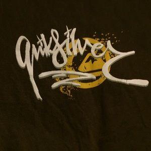 Quicksilver brown graphic T-shirt Sz L